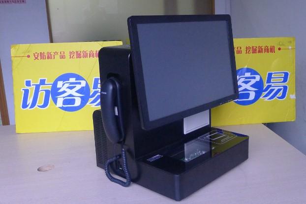 TSV-D8简介: 德生TSV-D8新一代智能访客一体机是专门针对公检法、政府机关、部队、企业、媒体、学校、写字楼、物业小区等对外来人员有有严格出入登记要求的单位而研发的专业管理系统。 TSV-D8是集最先进的证件扫描(OCR)、身份证芯片信息读取、数码拍照、电话录音、射频识别(RFID)与高速热敏打印等技术为一体的多功能一体机,可以详细、快速的记录来访人员的证件信息、图像信息,并对来访信息提供便捷的多方式查询。 产品特点:  读取二代身份证并识别真伪。  证件扫描(支持一、二代身份证、驾照、护照、军